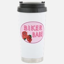 Biker Babe Stainless Steel Travel Mug