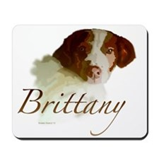 Brittany White Mousepad