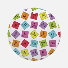 Periodic Elements Ornament (Round)