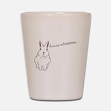 bunny whisperer Shot Glass