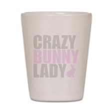 CRAZY BUNNY LADY Shot Glass