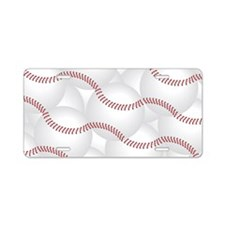 Baseball Aluminum License Plate