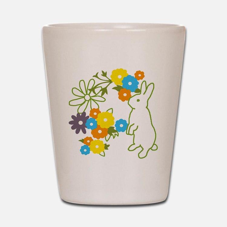 flower bunny Shot Glass