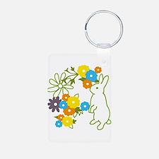 flower bunny Keychains