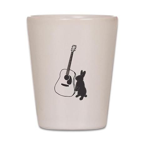 bunny & guitar Shot Glass