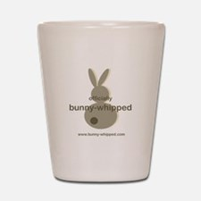 officially bunny-whipped Shot Glass
