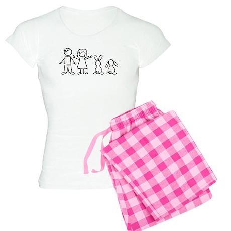 2 bunnies family Women's Light Pajamas