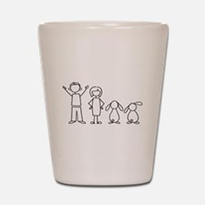 2 lop bunnies family Shot Glass