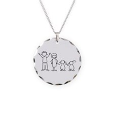 2 lop bunnies family Necklace