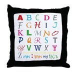TEACH THE ABC's Throw Pillow