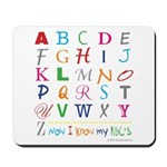 TEACH THE ABC's Mousepad