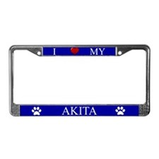 Blue I Love My Akita Frame