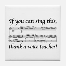 Cute Teacher voice Tile Coaster