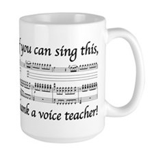 Thank a Voice Teacher Mugs