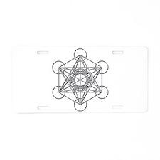 Metatrons Cube Aluminum License Plate