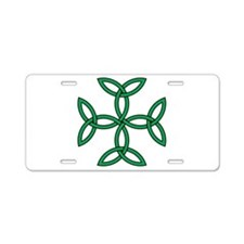 Celtic Triquetra Cross Aluminum License Plate