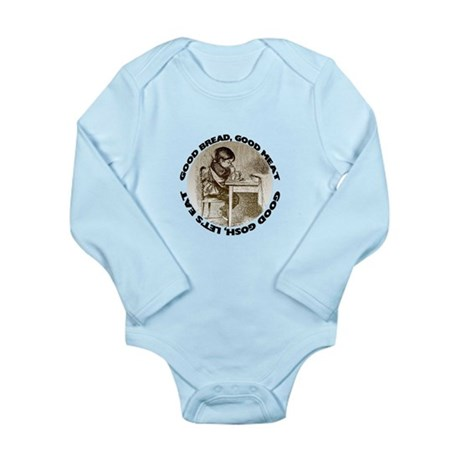 Mealtime Prayer Long Sleeve Infant Bodysuit