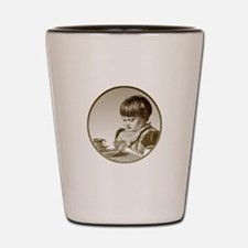 Child Saying Grace Shot Glass