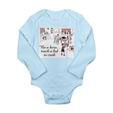 Teach A Kid To Cook Long Sleeve Infant Bodysuit