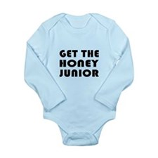 Get The Honey, Junior Long Sleeve Infant Bodysuit