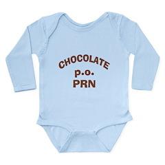 Chocolate p.o. PRN Long Sleeve Infant Bodysuit