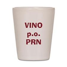 Vino p.o. PRN Shot Glass