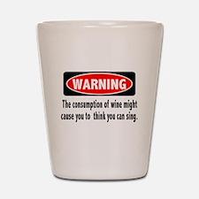 Wine Warning Shot Glass