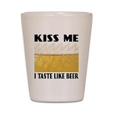Kiss Me Beer Shot Glass