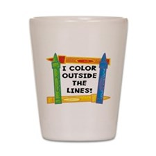 Color Outside The Lines Shot Glass