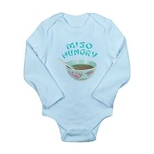 Miso Hungry Long Sleeve Infant Bodysuit