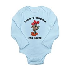 Tacos y Cerveza Long Sleeve Infant Bodysuit