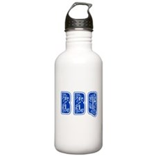 Red White & Blue BBQ Water Bottle