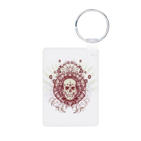 Devious Skull Aluminum Photo Keychain