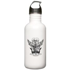 Rock on skulls and guitars Water Bottle