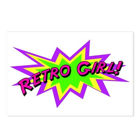 Retro Girl Postcards (Package of 8)