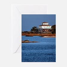 House on water, Cedar Key Greeting Cards (Package