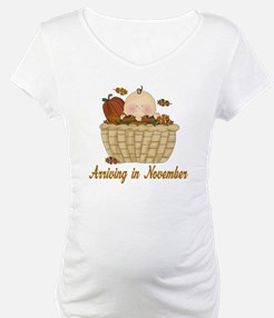 Baby Arriving In November Shirt