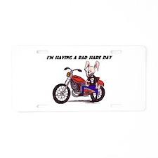 Bad Hair Day Aluminum License Plate