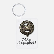 Ancient Campbell Tartan And Badge Keychains