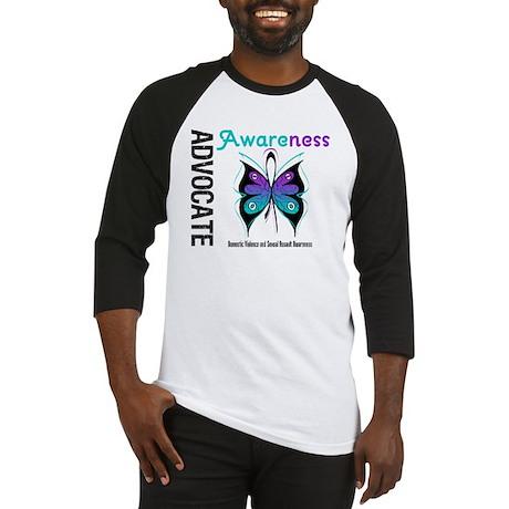 Purple & Teal Butterfly Baseball Jersey