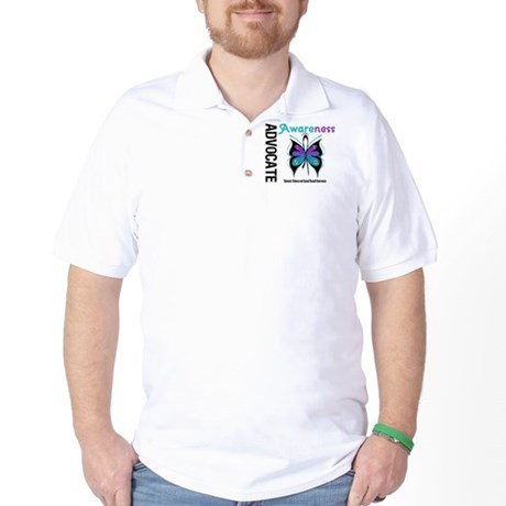 Purple & Teal Butterfly Golf Shirt