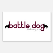 Border Collie/Cattle Dog Rectangle Decal
