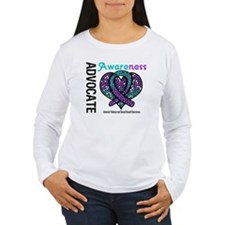 Purple & Teal Heart T-Shirt