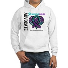 Purple & Teal Heart Hoodie