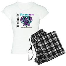 Purple & Teal Heart Pajamas