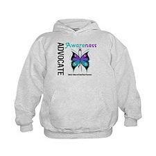 Purple & Teal Butterfly Hoodie