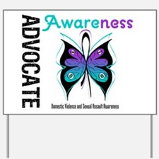 Purple & Teal Butterfly Yard Sign