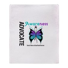 Purple & Teal Butterfly Throw Blanket