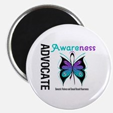 """Purple & Teal Butterfly 2.25"""" Magnet (100 pack)"""