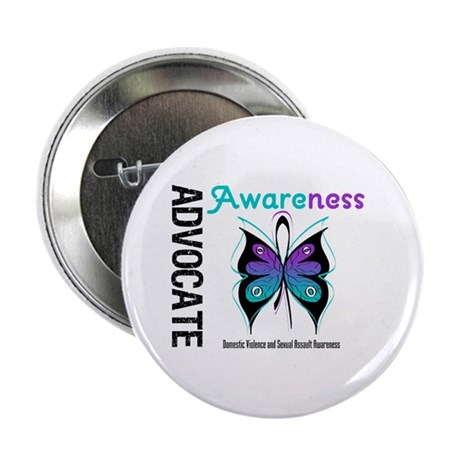 """Purple & Teal Butterfly 2.25"""" Button (100 pack)"""
